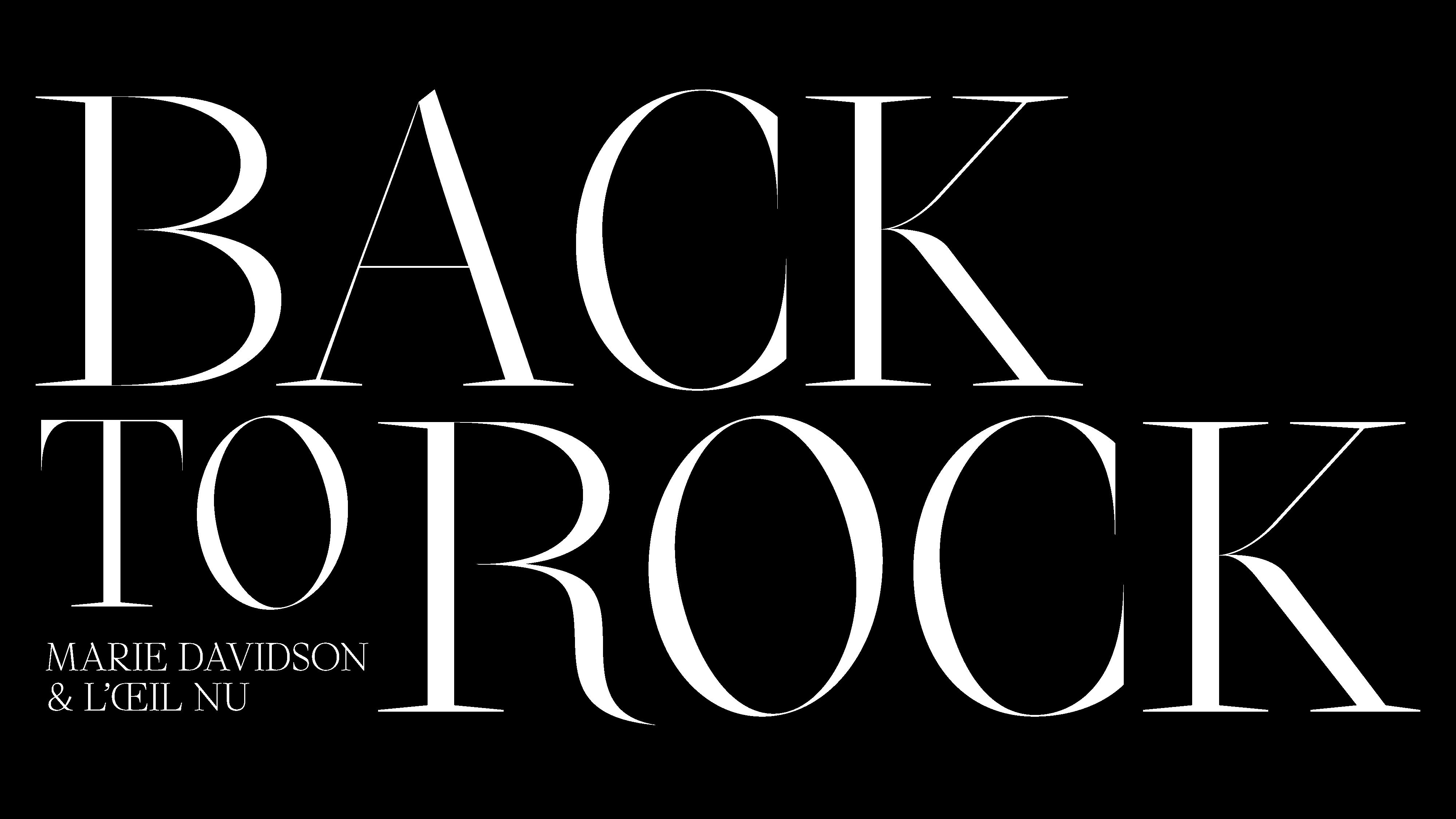 Back To Rock (Marie Davidson & L'Œil Nu)